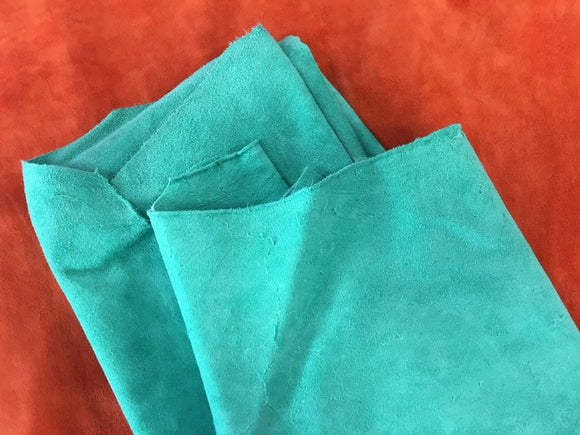 Leather - Alaska Split Teal $3.95/SqFt