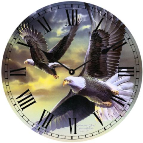 Clock - 2 Eagles