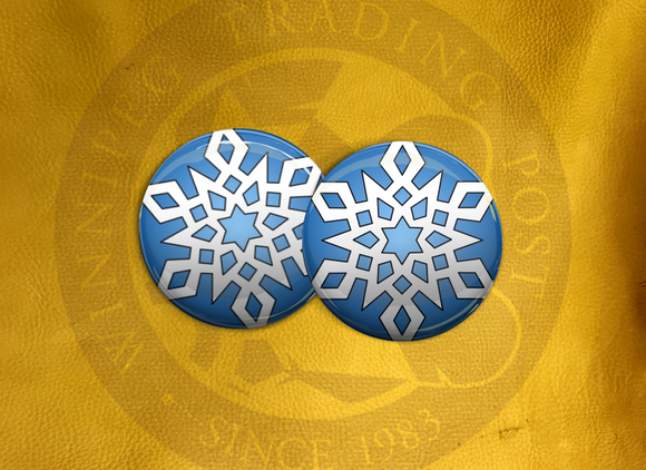 ECAB WT Snowflake White on Blue