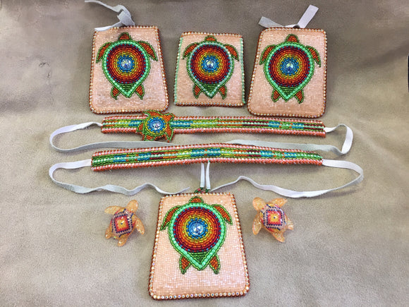 Beaded Set - Turtle 7 pc