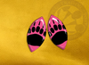 ECAB AN - Black Bear Paw on Pink