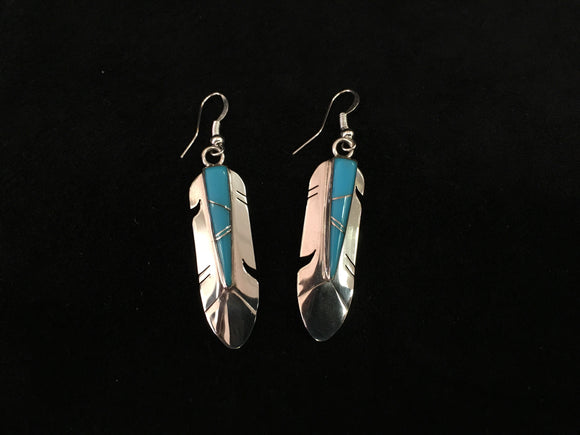 Sterling Silver Earrings - Feather