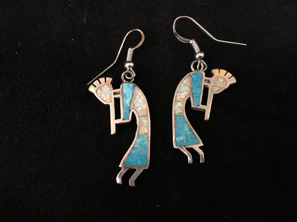 Sterling Silver Earrings - Kokopelli