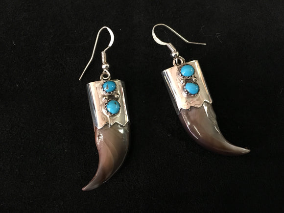 Sterling Silver Earrings - Bear Claw