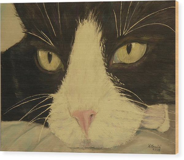 Sissi The Cat 3 - Wood Print