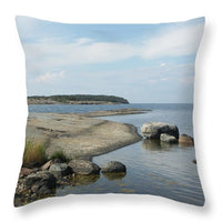 Archipelago 1, Hamina, Baltic Sea - Throw Pillow