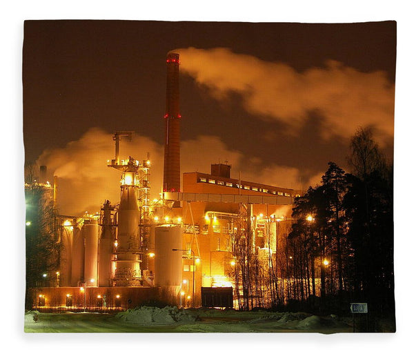 Sunila Pulp Mill at Night - Blanket