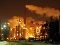 Sunila Pulp Mill at Night - Art Print