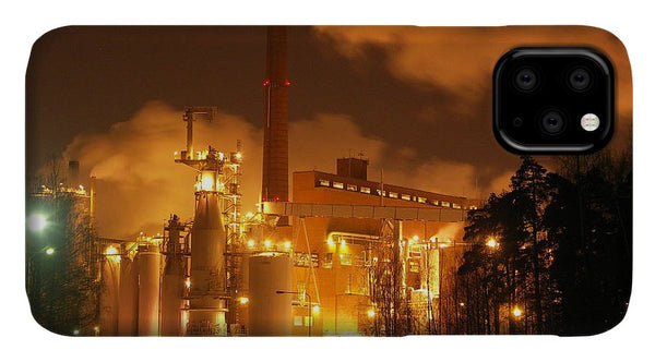 Sunila Pulp Mill at Night - Phone Case