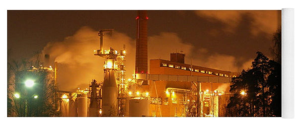 Sunila Pulp Mill at Night - Yoga Mat