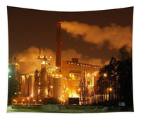 Sunila Pulp Mill at Night - Tapestry