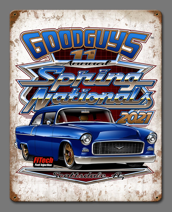 11th Spring Nationals Distressed Tin Sign