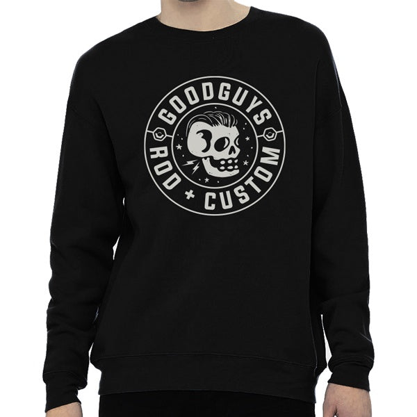 Vintage Skull Men's Drop Shoulder Sweatshirt