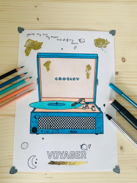 Crosley Radio Europe | Drawing contest Voyager Bluetooth record player