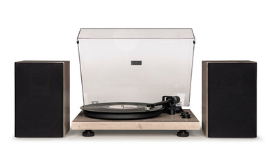 C62 turntable with external speakers | Grey