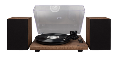 C62 turntable with external speakers | Walnut - Crosley Radio Europe