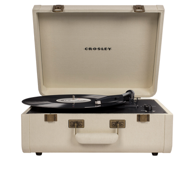 Crosley Radio Europe | Portfolio record player Bluetooth linen cream