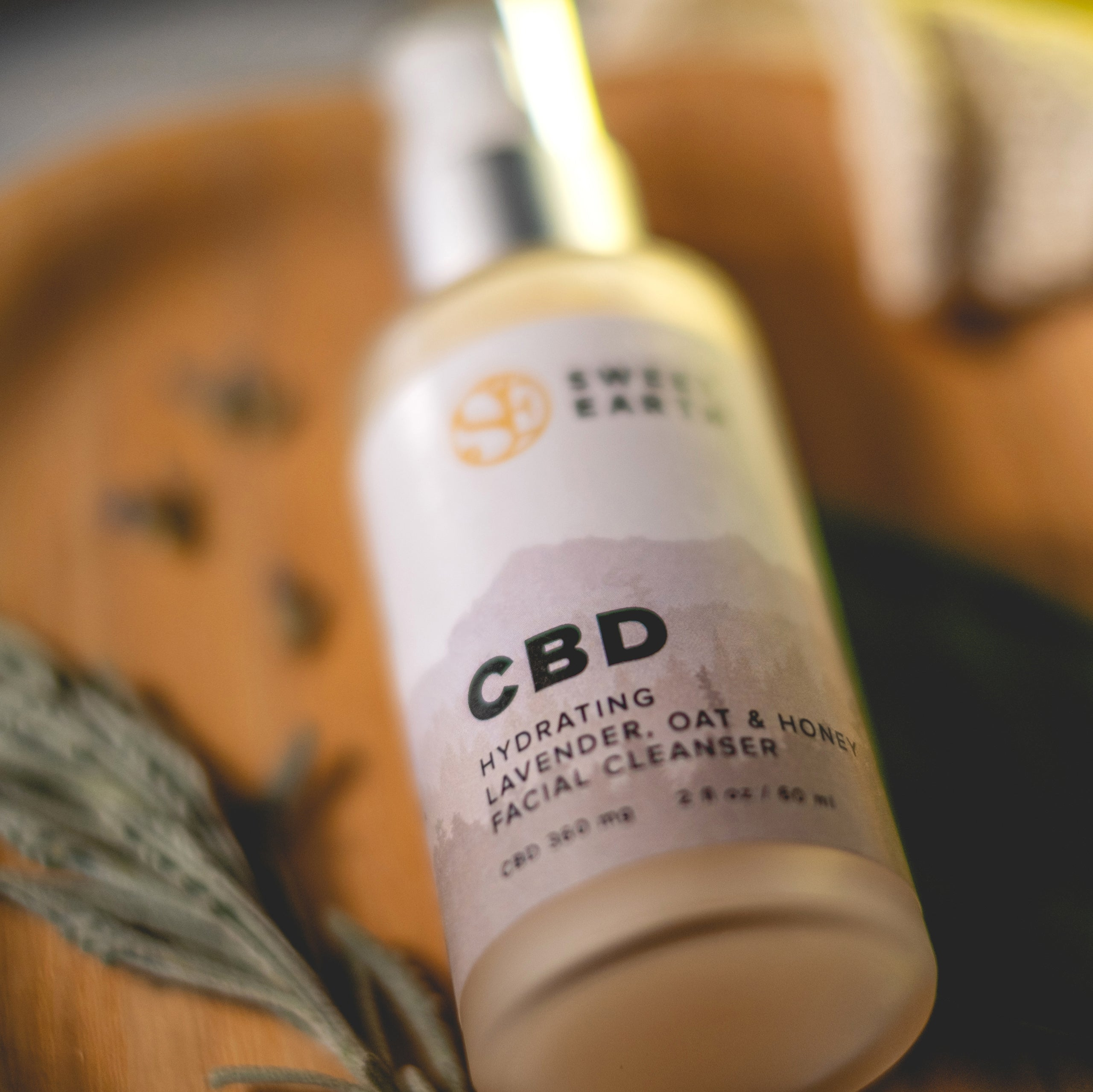 CBD Hydrating Lavender, Oat & Honey Facial Cleanser