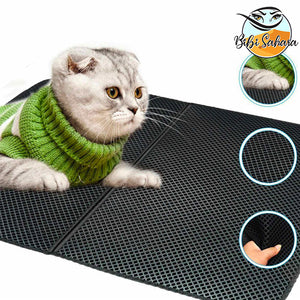 Double-Layer Cat Litter Trap Mat