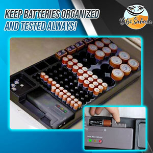 Store 'n Test Battery Organizer