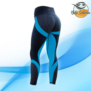 Mesh Print Pattern Fitness Leggings