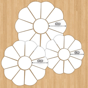 Flowery Dresden Piecing Template