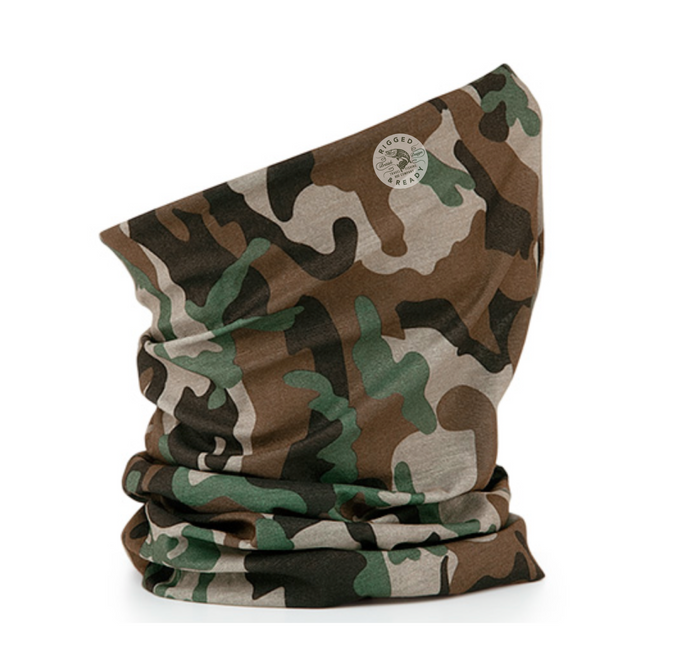 The Morph Multi-Purpose Travel Camo Mask and Head Accessory Snood