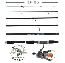 Load image into Gallery viewer, World Traveller Rod, Reel + Case Combination SAMPLE SALE