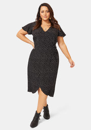 Eva Printed Wrap Dress