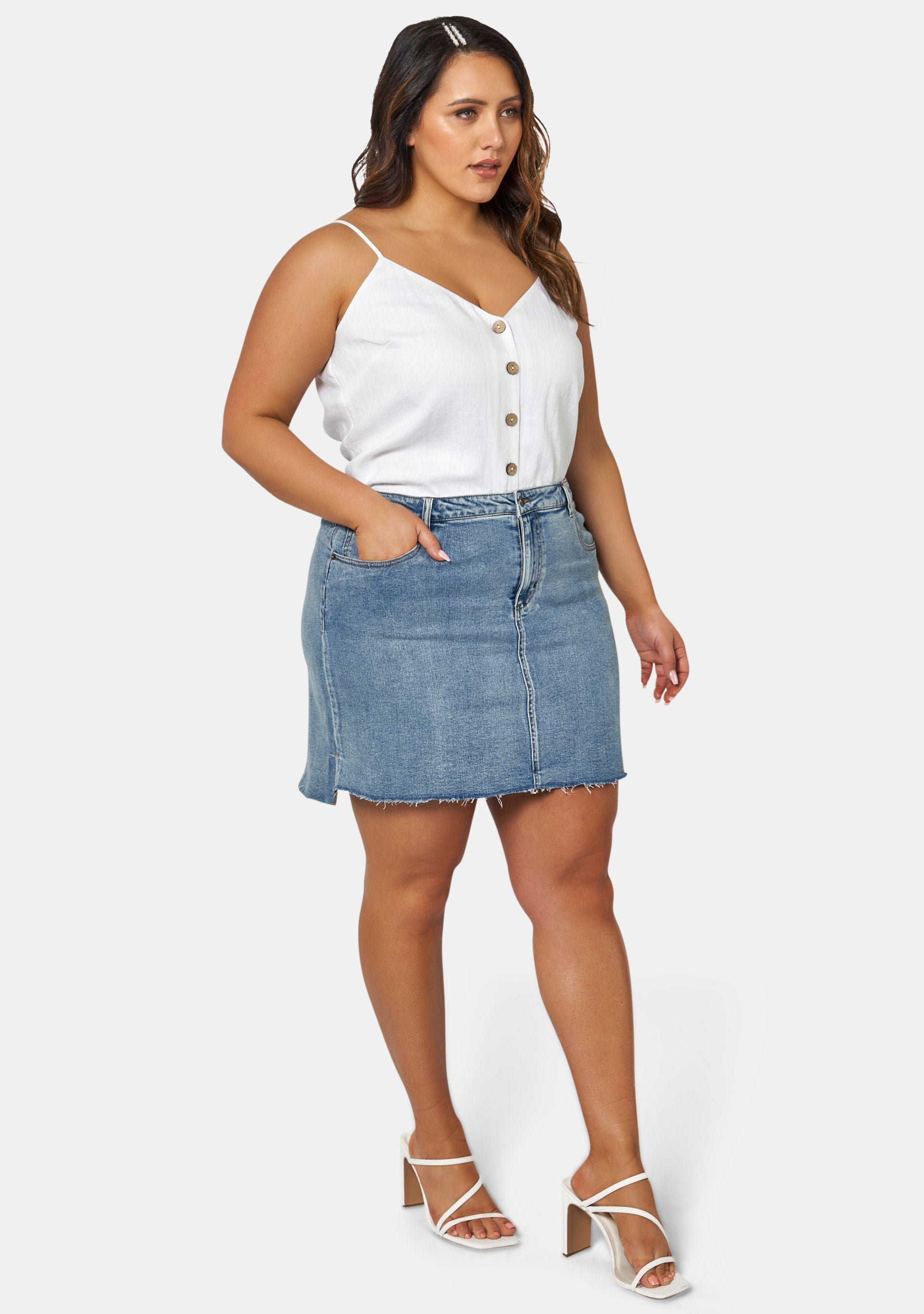 Aria Stepped Hem Skirt