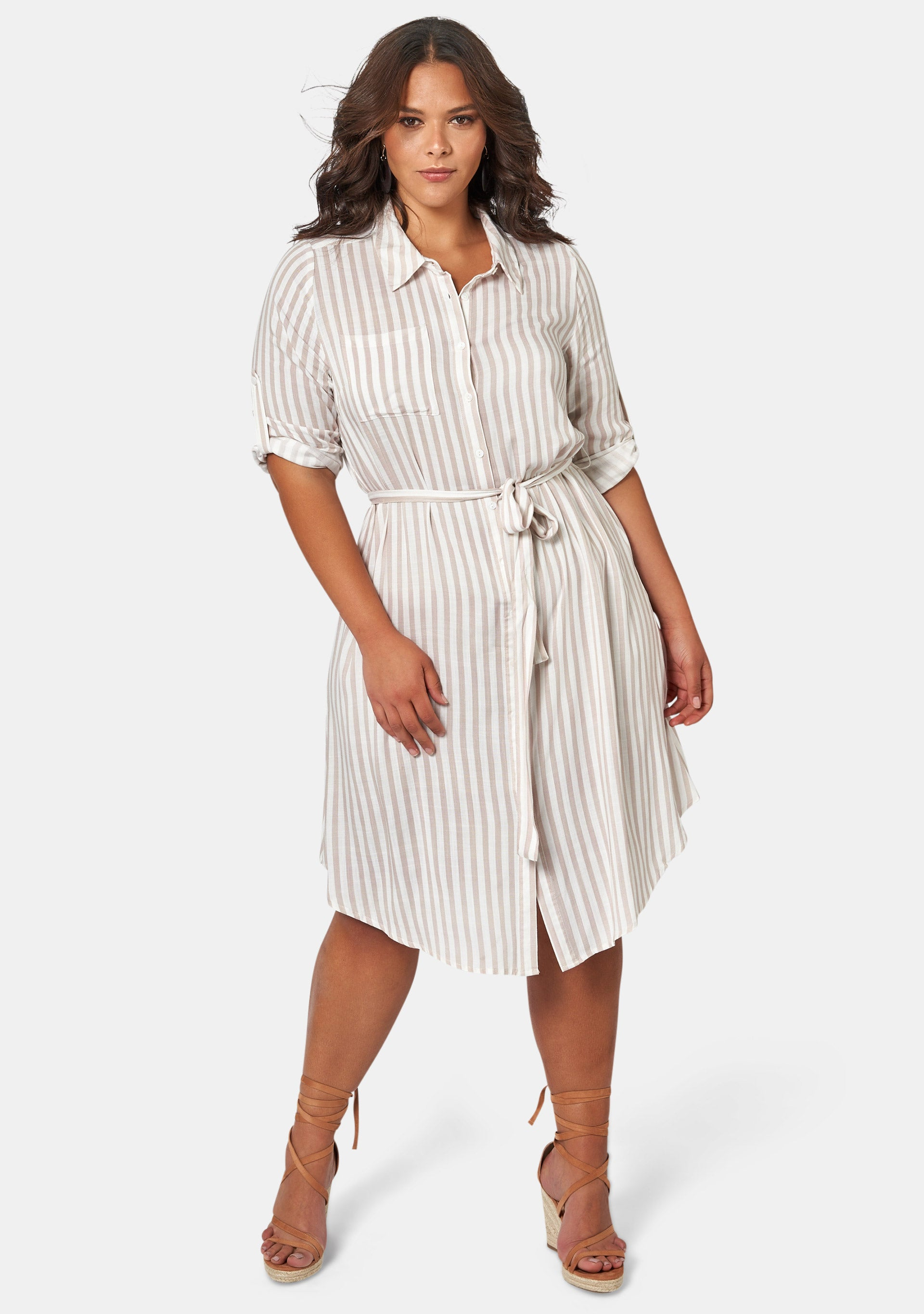 Amelia Stripe Shirt Dress