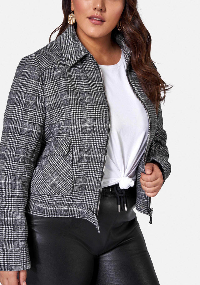 Jacquelyn Check Crop Jacket