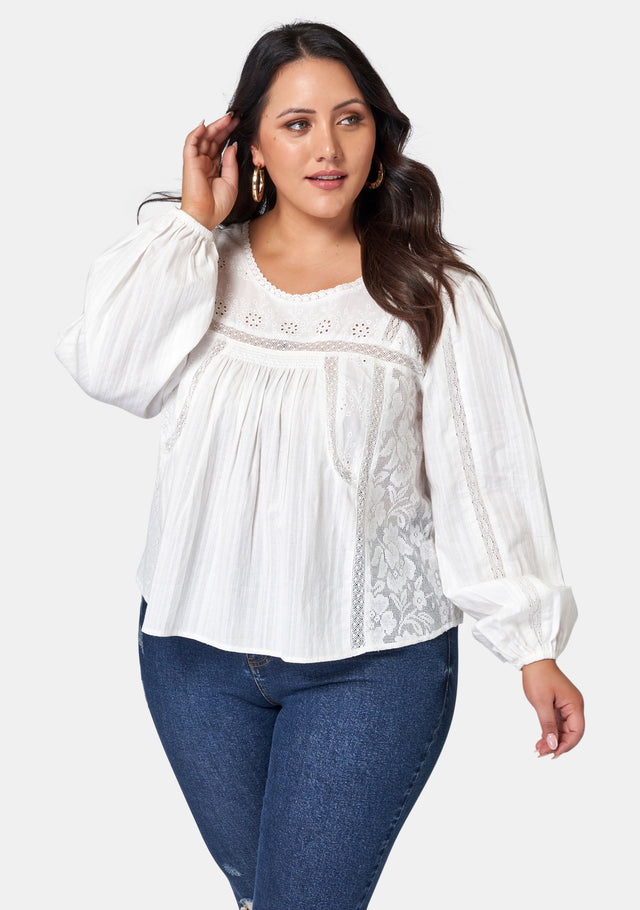 Gabriella Patch Blouse