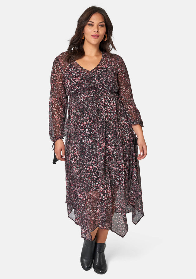 Indiana Hanky Hem Midi Dress
