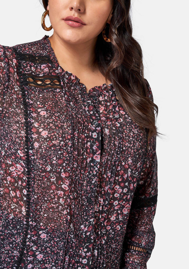 Kennedy Lace Trim Blouse
