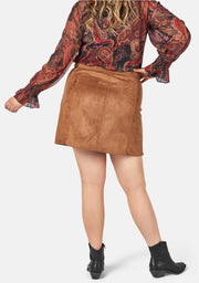 Golden Soul Suede Skirt