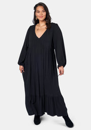Night Pillars Maxi Dress