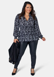 Bette Print Blouse