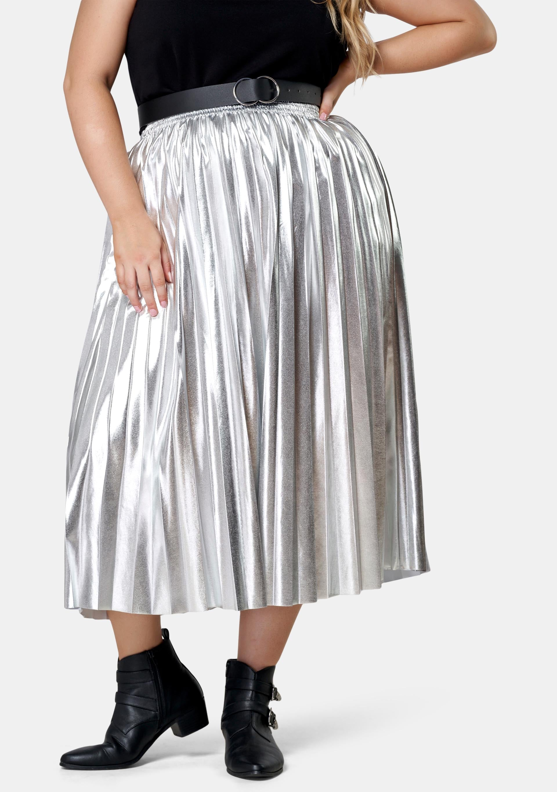 Atomic Pleated Midi Skirt