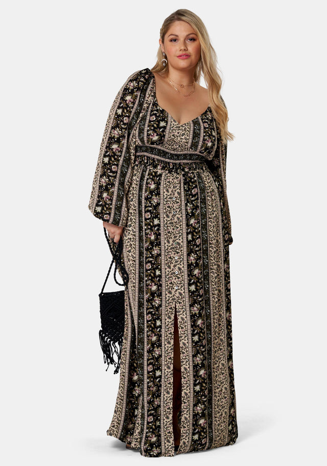 Spellbound Print Maxi Dress