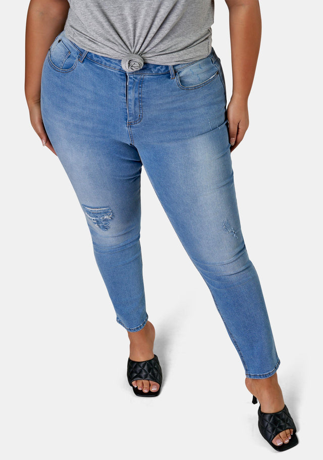Amber Ankle Distressed Skinny Leg Jean