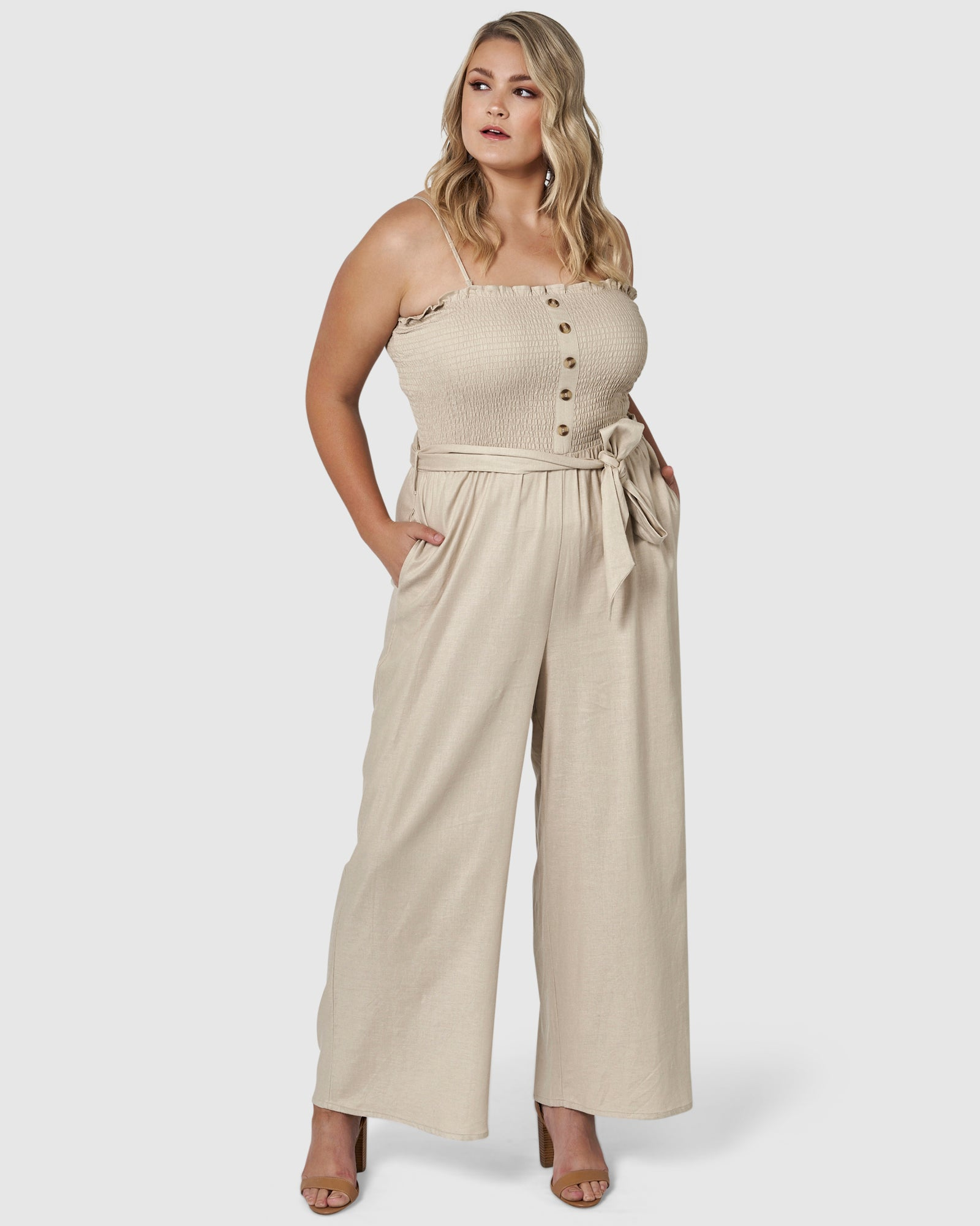 Abbey Linen Jumpsuit