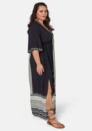 Crystal Illusion Maxi Dress
