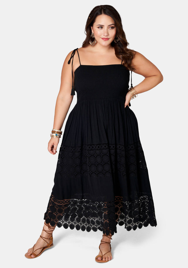 Much Ado Lace Midi Dress