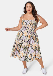 Slow And Low Printed Midi Dress