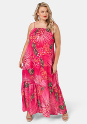 Bubbles Only Print Maxi Dress