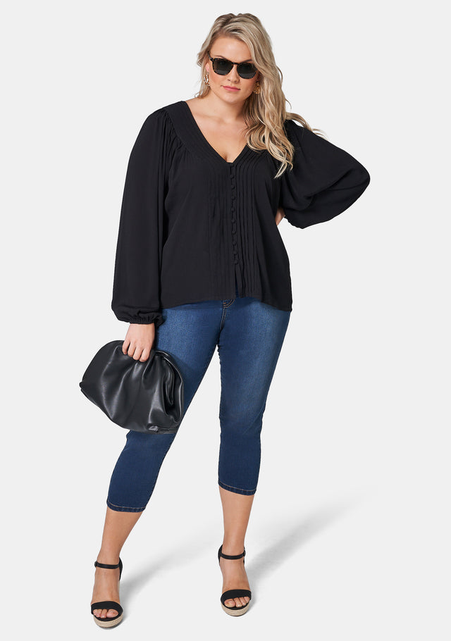 Bianca Pleat Front Blouse