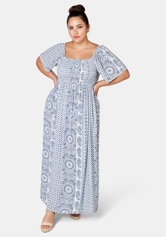 Ilina Square Neck Maxi Dress