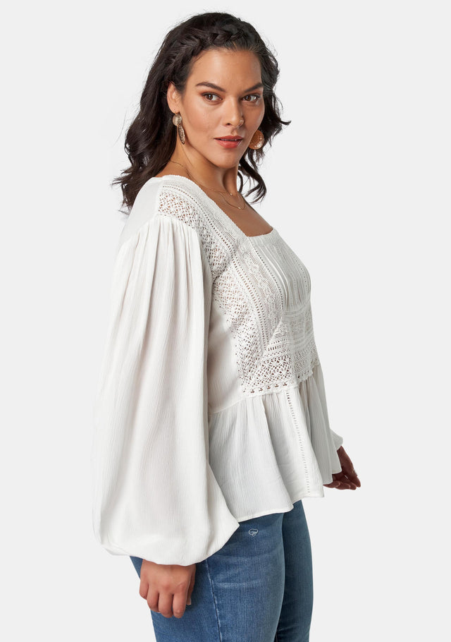 Moonbeam Lace Detail Blouse