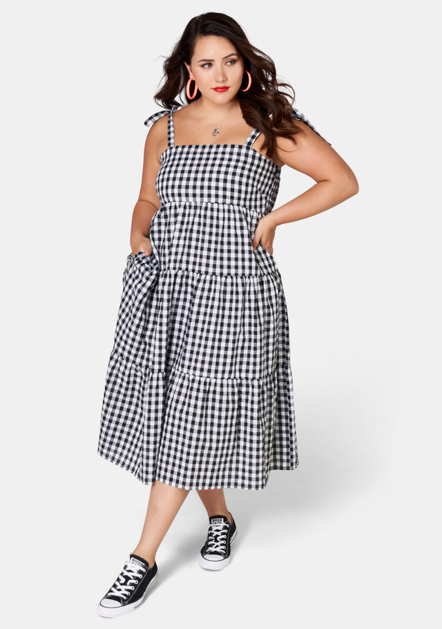 New Sensation Gingham Dress